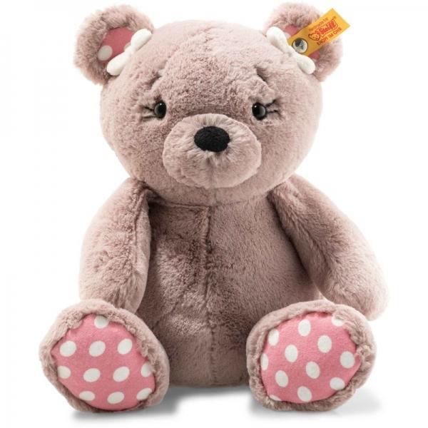 Steiff 113673 Soft Cuddly Friends Beatrice Teddybär, Plüsch, 29 cm, rosebraun