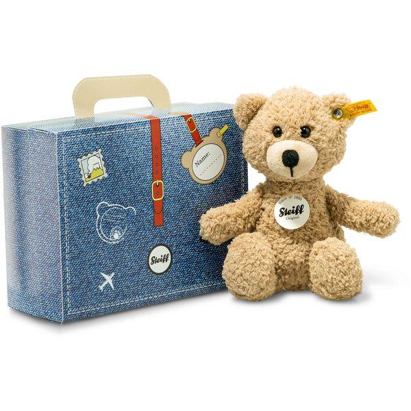 Steiff 114014 Sunny Teddybär im Koffer, Plüsch, 22 cm, beige