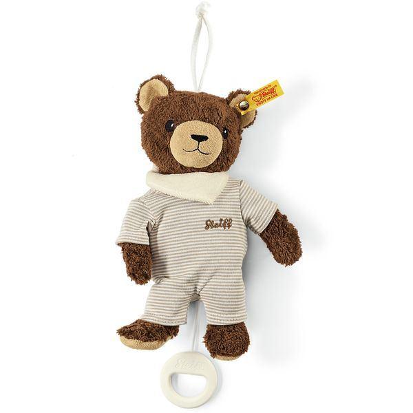 Steiff 237676 Basti Bär Spieluhr, Baumwolle, 20 cm, braun/beige, mit Musikwerk