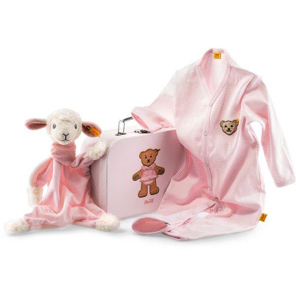 Steiff 240515 Geschenkset Träum-süß-Lamm Schmusetuch, , 24 cm, rosa