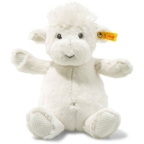 Steiff 240577 Soft Cuddly Friends Wooly Lamm, Plüsch, 28 cm, creme
