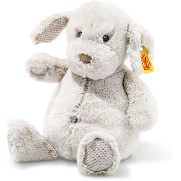 Steiff 240591 Soft Cuddly Friends Baster Hund, Plüsch, 28 cm, hellgrau