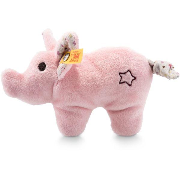 Steiff 240652 Mini Knister-Schwein mit Rassel, Plüsch, 11 cm, rosa