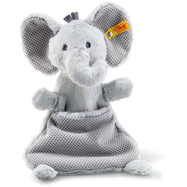 Steiff 240713 Soft Cuddly Friends Ellie Elefant Schmusetuch, Plüsch, 27 cm, grau