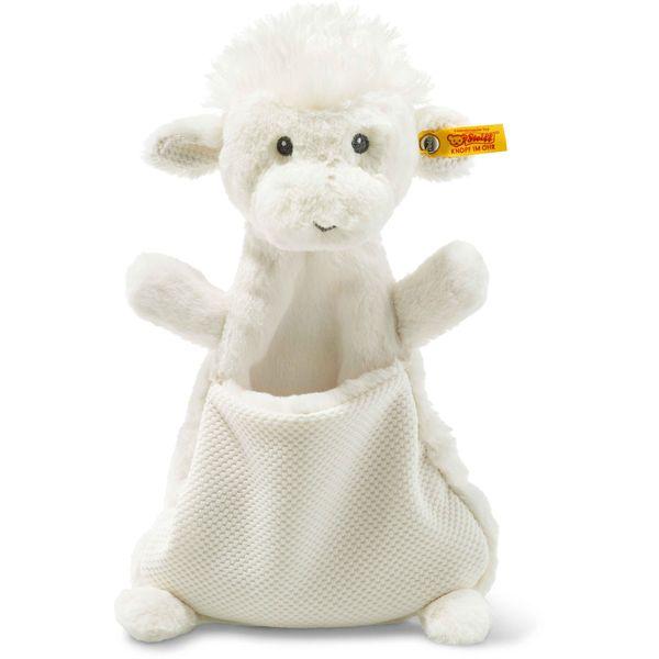 Steiff 240720 Soft Cuddly Friends Wooly Lamm Schmusetuch, Plüsch, 27 cm, creme
