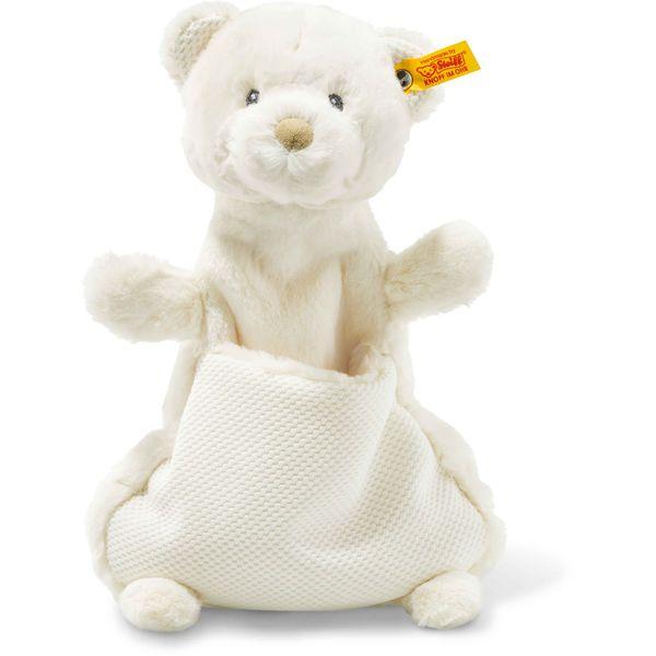 Steiff 240737 Soft Cuddly Friends Giggles Teddybär Schmusetuch, Plüsch, 27 cm, creme