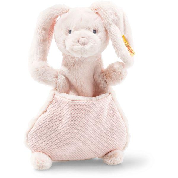 Steiff 240751 Soft Cuddly Friends Belly Hase Schmusetuch, Plüsch, 27 cm, rose