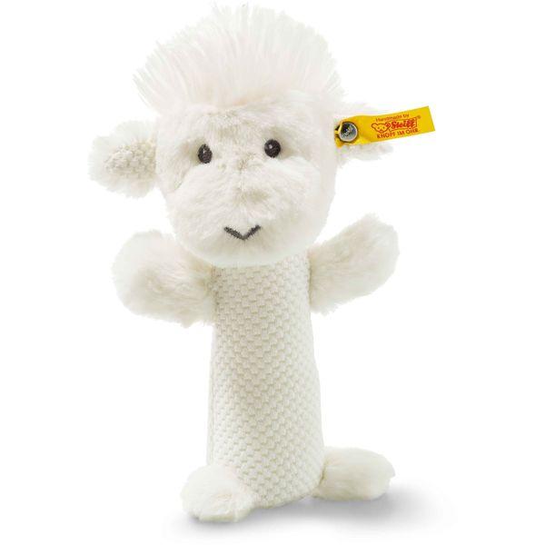 Steiff 240775 Soft Cuddly Friends Wooly Lamm Rassel, Plüsch, 15 cm, creme