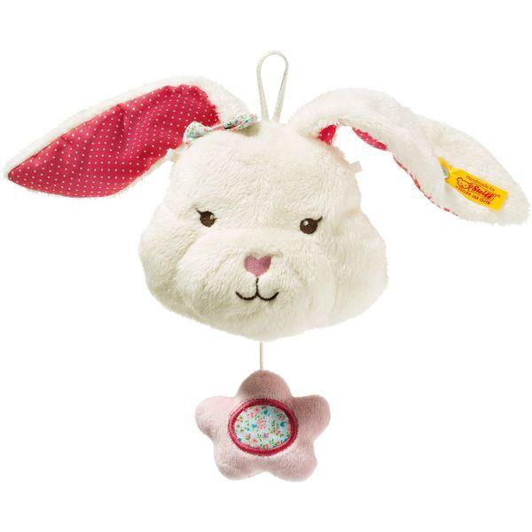 Steiff 241239 Blossom Babies Hase Spieluhr, Plüsch, 11 cm, weiß