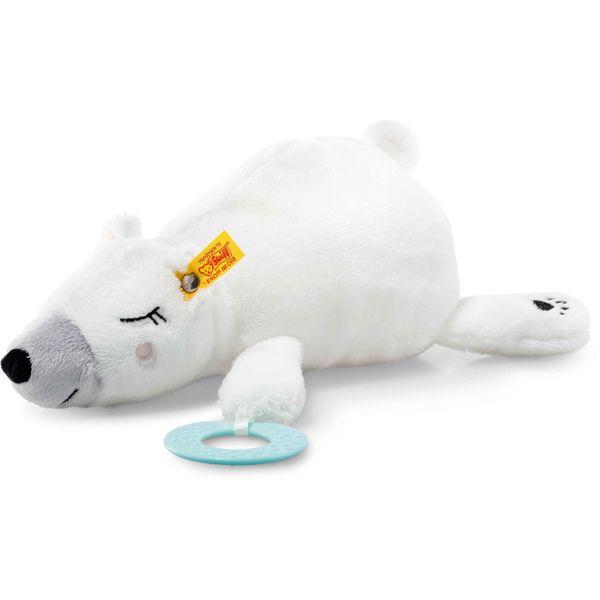 Steiff 241246 Soft Cuddly Friends Iggy Eisbär mit Greifring, Plüsch, 30 cm, weiß