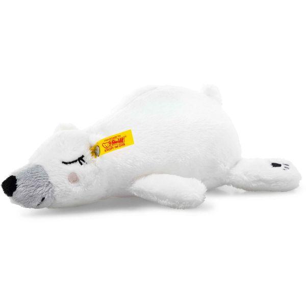 Steiff 241253 Soft Cuddly Friends Iggy Eisbär, Plüsch, 20 cm, weiß/bunt