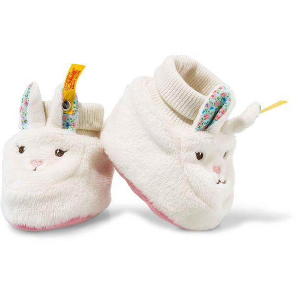 Steiff 241345 Blossom Babies Hase Schuhe, Plüsch, 10 cm, creme/pink