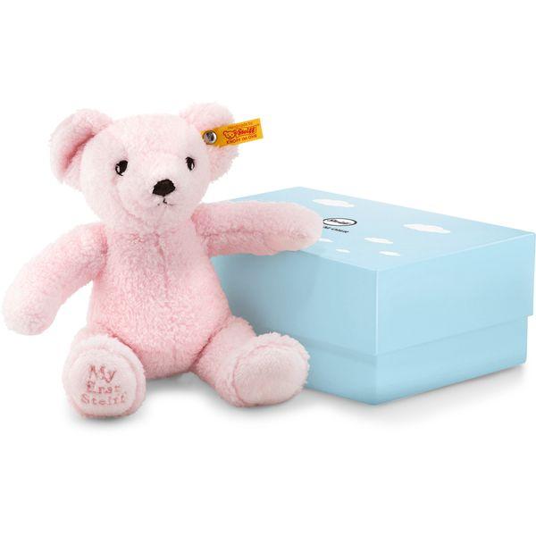 Steiff 241352 My first Steiff Teddybär in Geschenkbox, Plüsch, 24 cm, rosa