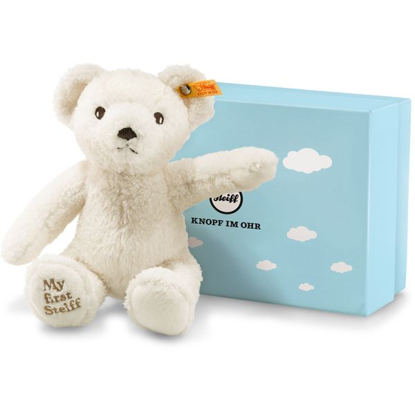 Steiff 241376 My first Steiff Teddybär in Geschenkbox, Plüsch, 24 cm, creme