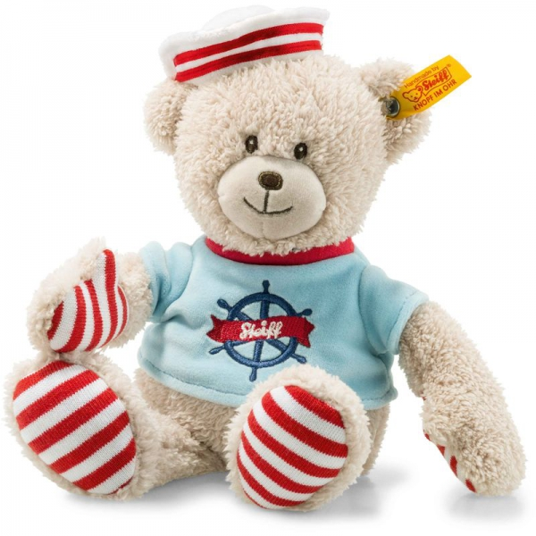 Steiff 241468 Down by the Sea Seemann Teddybär, Plüsch, 26 cm, beige