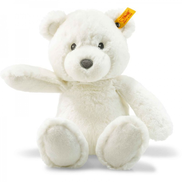 Steiff 241550 Soft Cuddly Friends Bearzy Teddybär, Plüsch, 28 cm, weiß