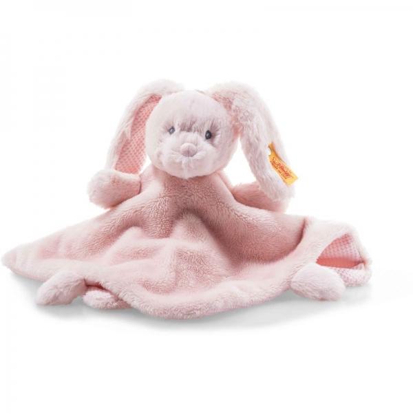 Steiff 241901 Soft Cuddly Friends Belly Hase Schmusetuch, Plüsch, 26 cm, rosa