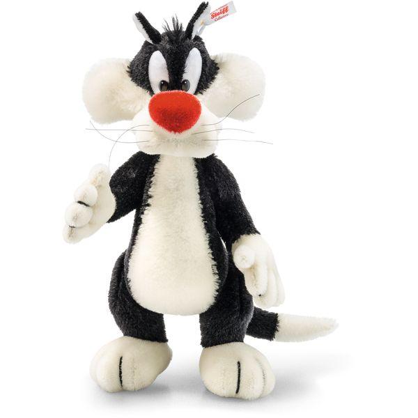 Steiff 354663 Sylvester, Mohair, 34 cm, schwarz/weiß