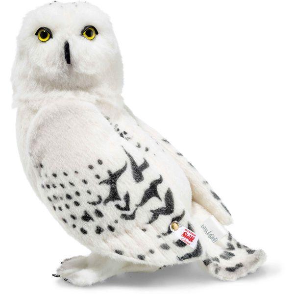 Steiff 354854 Hedwig Eule, Alpaca, 30 cm, weiß