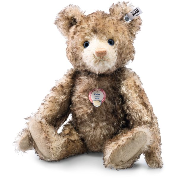 Steiff 403286 Teddybär Petsy 1928 Replica, Mohair, 35 cm, braun gespitzt