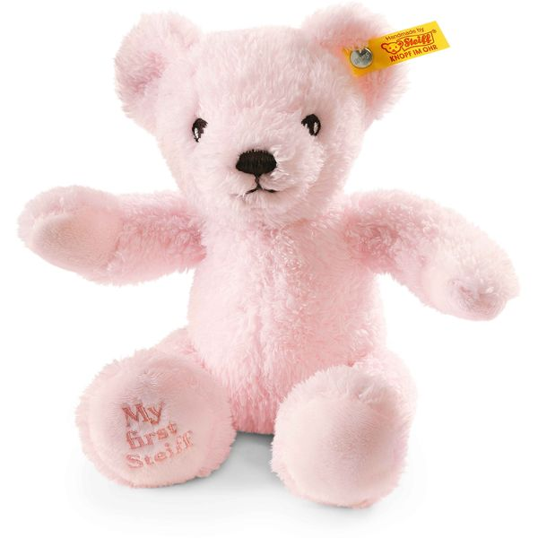 Steiff 664717 My first Steiff Teddybär, Plüsch, 24 cm, rosa