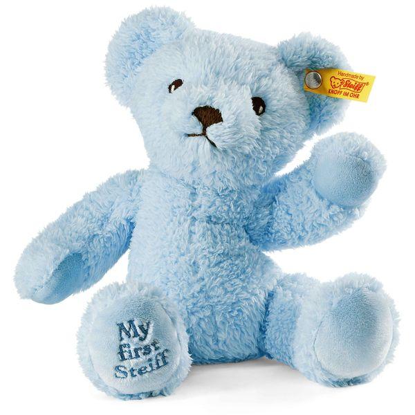 Steiff 664724 My first Steiff Teddybär, Plüsch, 24 cm, hellblau