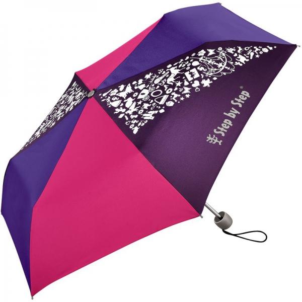 Step by Step Regenschirm Purple & Rose, Magic Rain-Effekt,
