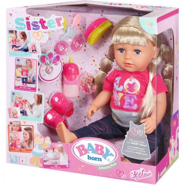 Zapf 820704 - BABY born® Interactive Sister