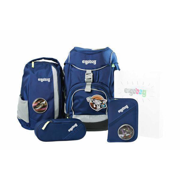 bd7886e875538 Ergobag Schulrucksack Set (6-tlg.) Blau