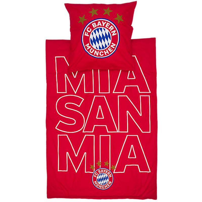 64457fcb8fd3c1 FC Bayern München Bettwäsche Glow mia san mia