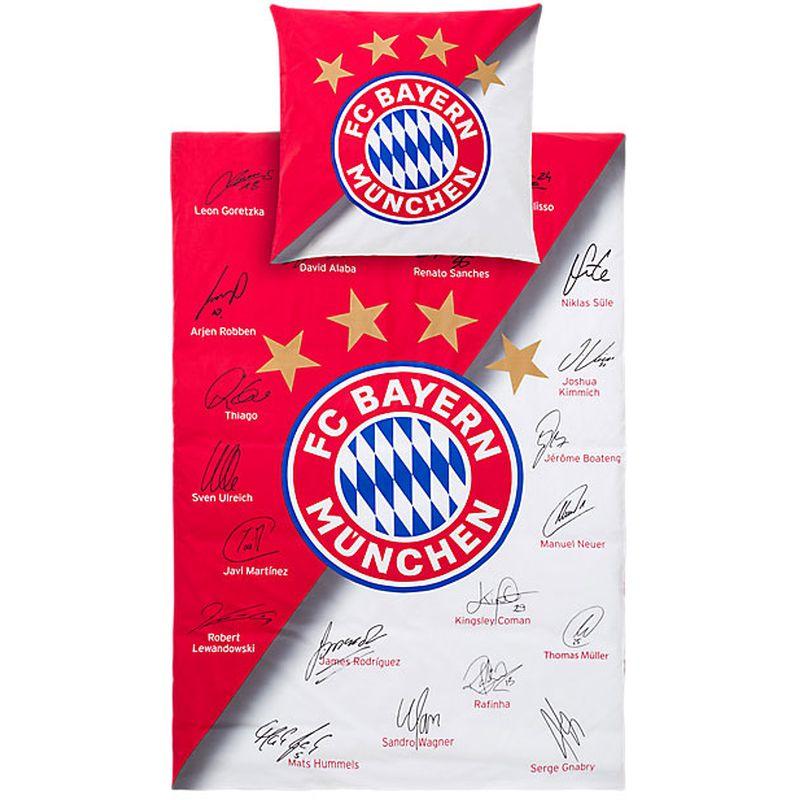 Fc Bayern München Bettwäsche Signature Bayern München Colludod