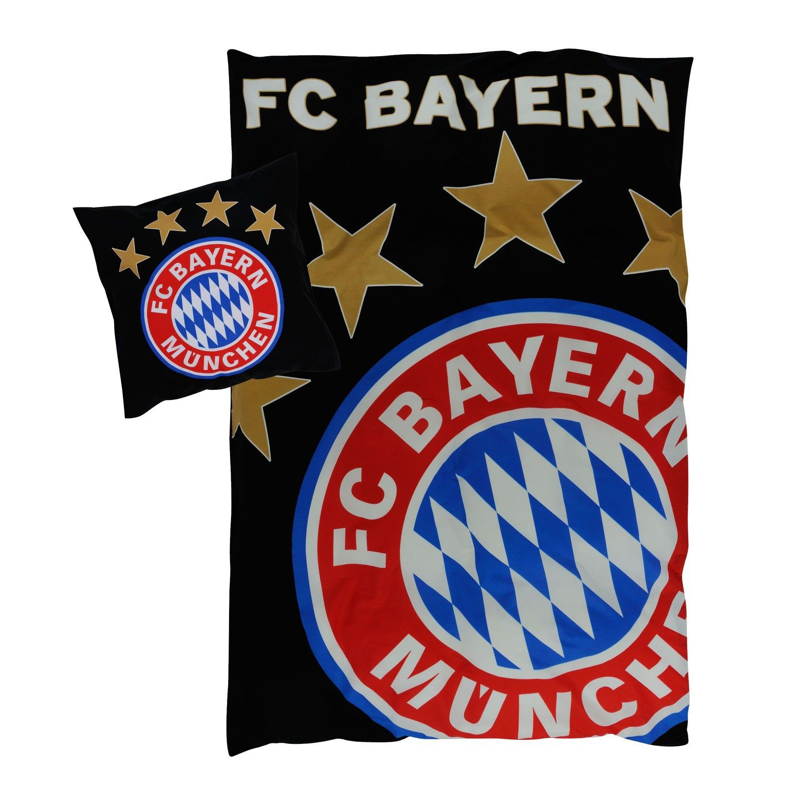 fc bayern m nchen bettw sche glow in the dark. Black Bedroom Furniture Sets. Home Design Ideas