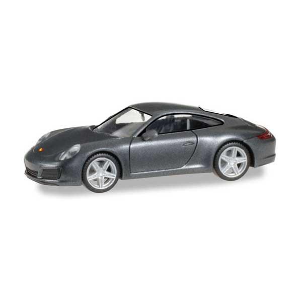 Herpa 038645 Porsche 911 Carrera 4 achatgrau metallicScale 1 87 NEU OVP